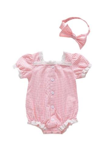 RAISING LITTLE pink Jhen Romper Set A0598KA838011EGS_1