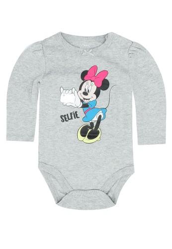 FOX Kids & Baby grey Newborn Long Sleeve Bodysuit EAF03KAA9D499CGS_1