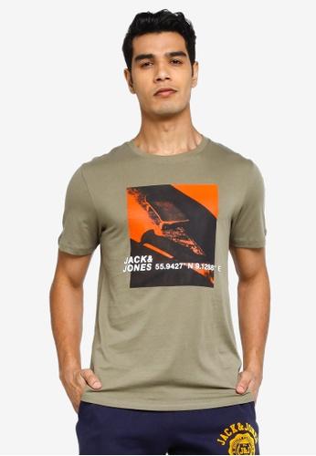 Jack & Jones green Jump Short Sleeves Crew Neck Tee 11220AA02B7C44GS_1