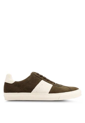 MANGO Man green Contrast Panel Suede Sneakers 8DE41SH61E1C2CGS_1