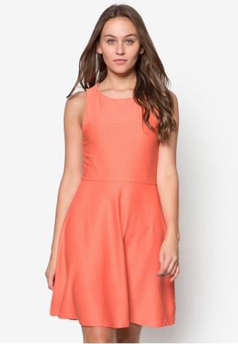 Jersey Jacquzalora 包包評價ard Sleeveless Skater Dress, 服飾, 洋裝