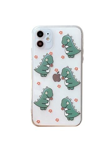 Kings Collection green Cartoon Little Dinosaur iPhone 12 Case (KCMCL2190) 7CCD2AC2DD47ADGS_1