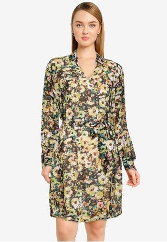 Vero Moda green Nilla Short Dress 9911FAA1A25B6FGS_1