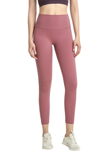 B-Code red ZWG7022Lady Quick Drying Running Fitness Yoga Sports Leggings -Red 56566AA310AEA4GS_1