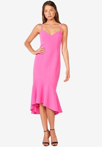 Bardot pink Lisandra Midi Dress 6B742AAFD153B6GS_1