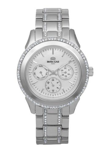 Roscani silver Roscani Danica B37 (Multifunction + WR 5ATM) Stainless Steel White Bracelet Women Watch 46B0CAC417EB6FGS_1