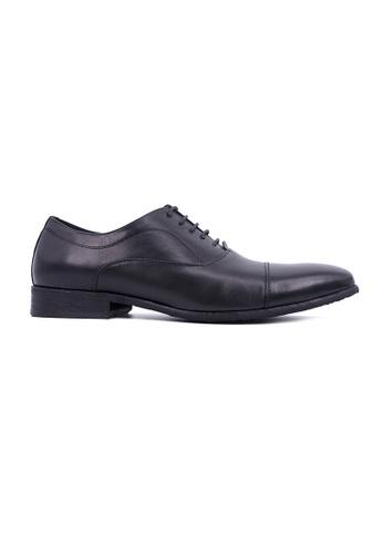 Hanson Bootmaker black Hanson Bootmaker Laceup Oxford With Toe Cap- Black 06DF8SHF483133GS_1