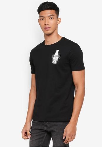 OVS black Graphic T-Shirts 1E54CAA022F9E9GS_1