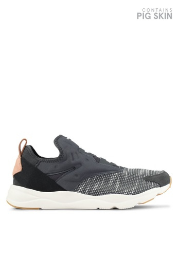 Reebok black and grey Furylite Slip Embroidered EBK Shoes RE691SH0S9YYMY_1