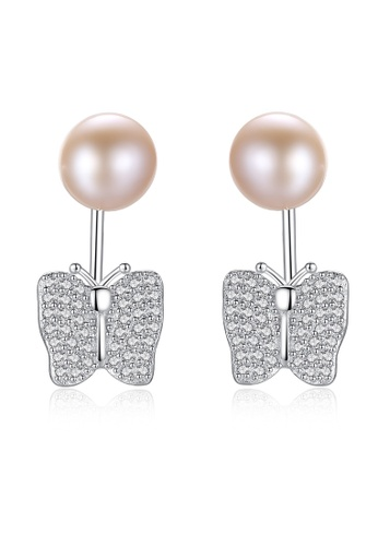 SUNRAIS silver Premium Color Stone Silver Simple Design Earrings 8B507ACACA0F73GS_1