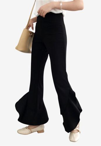 Lara black Women's High Waist Flare Pants F1797AA3F4310AGS_1