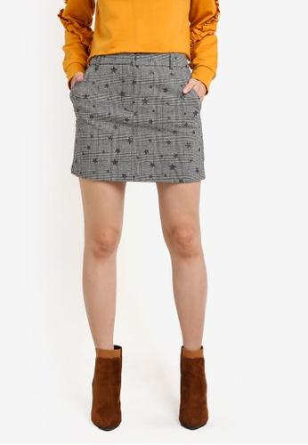 Miss Selfridge multi Star Check Mini Skirt MI665AA0SD8RMY_1
