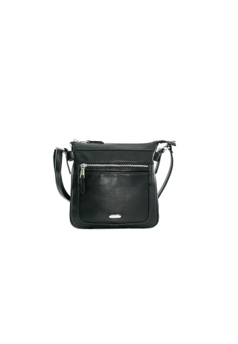 Pierre Cardin black Pierre Cardin Premium Medium Crossbody Bag B3ED8AC030F256GS_1