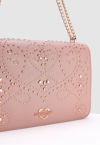 60684abb5a4b Buy Love Moschino Shoulder Bag With Brogue Detail Online