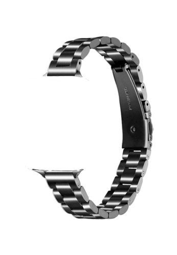 Kings Collection black Black Slim Stainless Steel Apple Watch Band 42MM/44MM (KCWATCH1074) 307A3AC1D64570GS_1