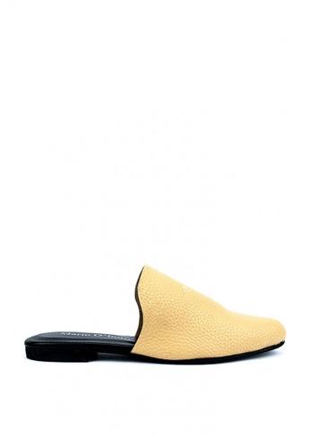 Mario D' boro Runway beige Zoey Flat Shoes 7655ASH66FABD0GS_1