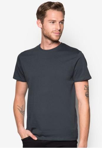 zalora 男鞋 評價棉質圓領T恤, 服飾, T恤