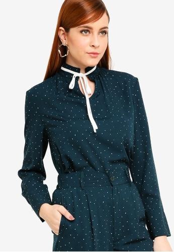 Zalia green Tie Collar Blouse 98C4CAA5294690GS_1