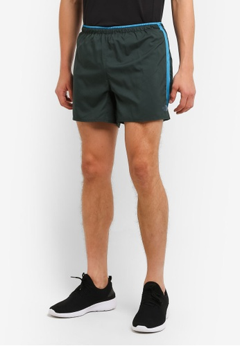 The North Face green TNF M BTN SHORT 5 DRKSTSPRUCE/BRILLIANTBLUE TH879AA0FM9CSG_1