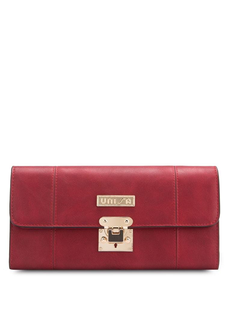 Unisa Vintage Toning Faux Leather Tri-Fold Long Ladies Wallet