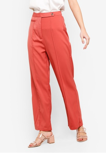 ZALORA pink Tab Details Long Pants 55A4AAA71A72D5GS_1
