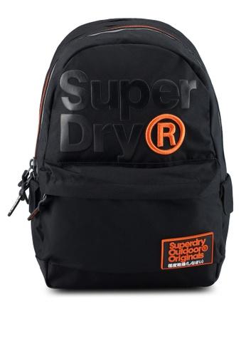 Superdry black High Build Lineman Montana Backpack 85BABAC9B13B19GS_1