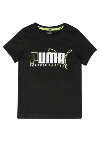 PUMA black Alpha Graphic Tee 77594KAA99B89FGS_1