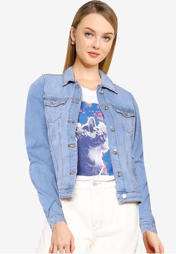 Springfield blue Essential Denim Jacket 882B0AA37DC437GS_1