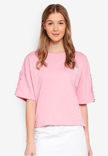 ESPRIT pink Love Sweatshirt 5C9FCAA20B1E22GS_1