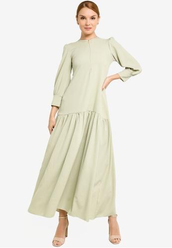 REALFANTASY green Inaya Dress Mint Green A13DAAA62D039FGS_1