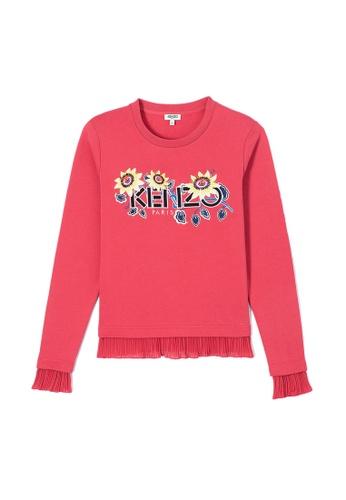 "Kenzo red Kenzo Paris ""Passion Flower"" Sweatshirt in Coral CD260AAEBF6640GS_1"