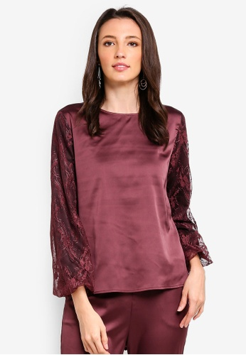 Zalia black and purple Lace Piece Top E7BE0AAC597539GS_1
