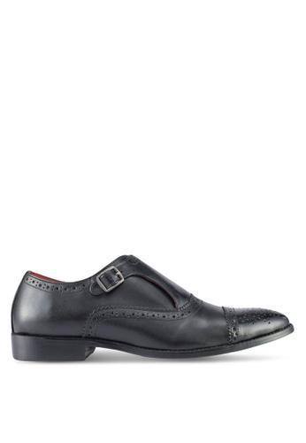 Acuto black Leather Dress Shoes AC283SH0SL5WMY_1