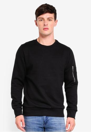 Brave Soul black Basic Sweatshirt 81609AA0F1F033GS_1