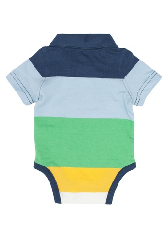 NWT Gap Baby Boy Blue Polo Bodysuit Plaid Collar Size 6-12M Free Shipping NEW