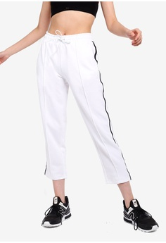 4796f8055a16d3 New Balance white Athletics Select Cropped Track Pants DD0BEAA53EDE99GS_1
