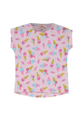 DU PAREIL AU MÊME (DPAM) pink Light Pink All-Over Print T-Shirt 12476KAF586785GS_1