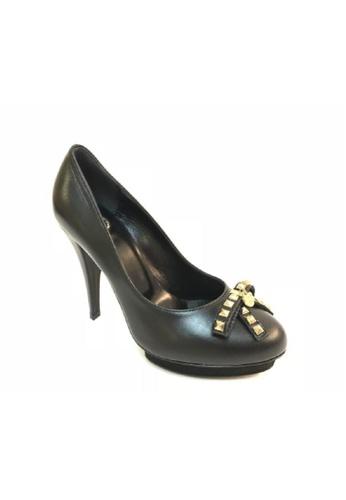 ELISABETTA FRANCHI 黑色 ELISABETTA FRANCHI/ 伊莉莎白法蘭奇蝴蝶結高跟鞋 B303FSH170D0C0GS_1