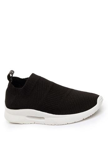 Twenty Eight Shoes 黑色 舒適針織襪子運動鞋 VTF02 37630SH95A4C72GS_1