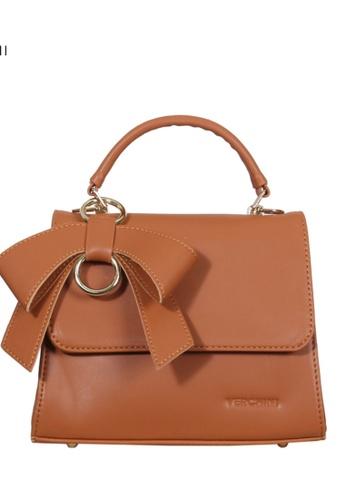 Verchini brown Verchini Front Flap Top Handle Bag 9818FACA00C8DAGS_1
