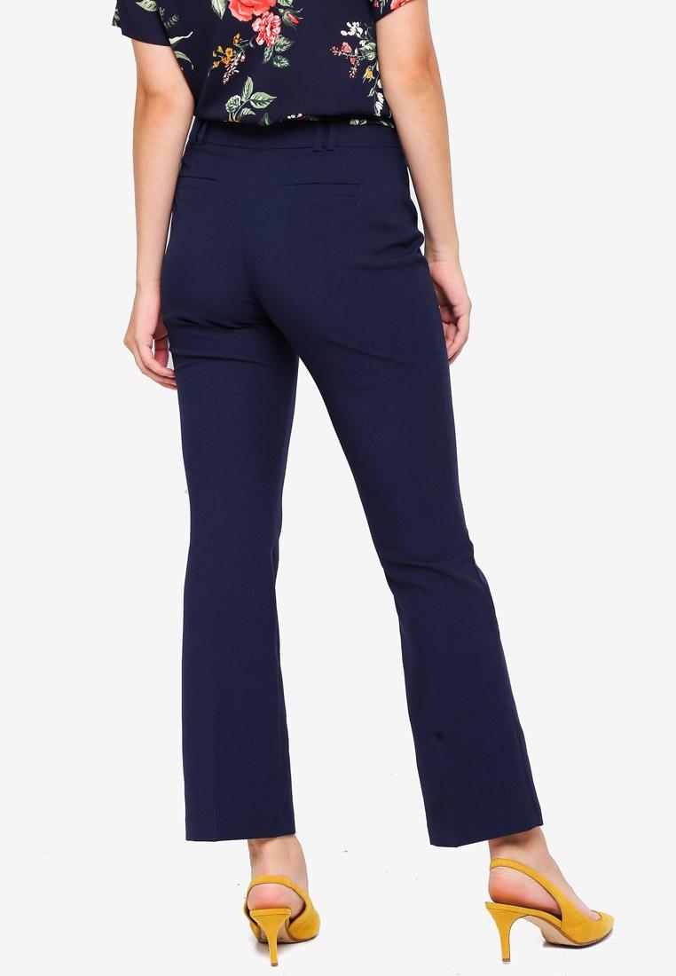 Dorothy Perkins Bootcut Short Navy Trousers Blue Navy qqrFdwO