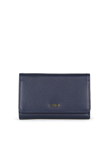 Picard navy Picard Genesis 3 Fold Wallet in Navy 6D7C5AC60BF2CAGS_1