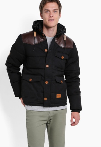 Wrung black Cranbrook Bubble Jacket WR395AA47PCQMY_1