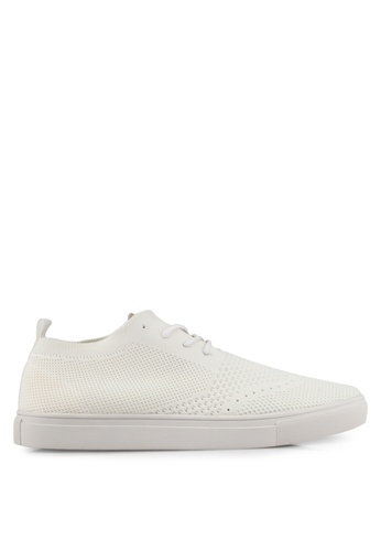 ZALORA white Casual Knitted Sneakers 1366ASH5629985GS_1