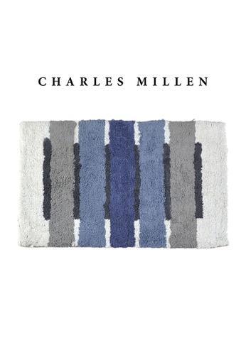 Charles Millen blue 2 Pcs Charles Millen Octave Tufted Bath Mat with Anti Slip coating 50 x 80cm/ 720g 38054HLC5514D0GS_1