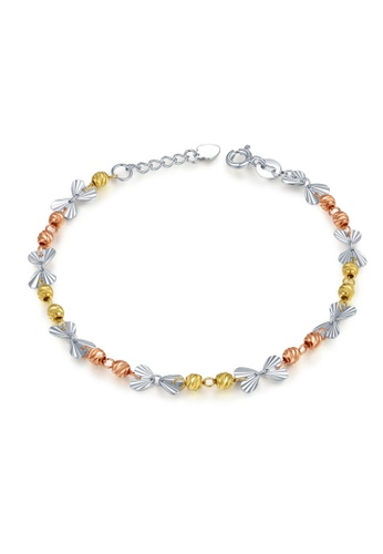 MaBelle silver and gold 14K/585 Yellow, White and Red Color Gold Gold Butterfly Bracelet 7F0CCAC162EB65GS_1