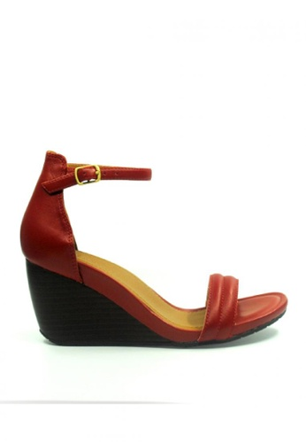 Kenneth Cole New York red CAKE ICING - Ankle Strap Wedge Sandal KE615SH18AEFMY_1