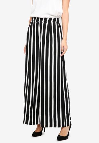 ZALORA black Striped Culottes EF1D6AA6B1BDBCGS_1