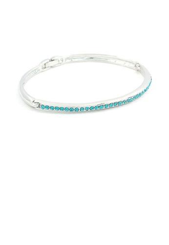 Glamorousky blue Elegant Bangle with Sky Blue Austrian Element Crystals A1870AC89694B9GS_1
