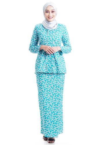 Ashura green and multi Daisie Cotton Kebaya BB10DAA1C28FFFGS_1